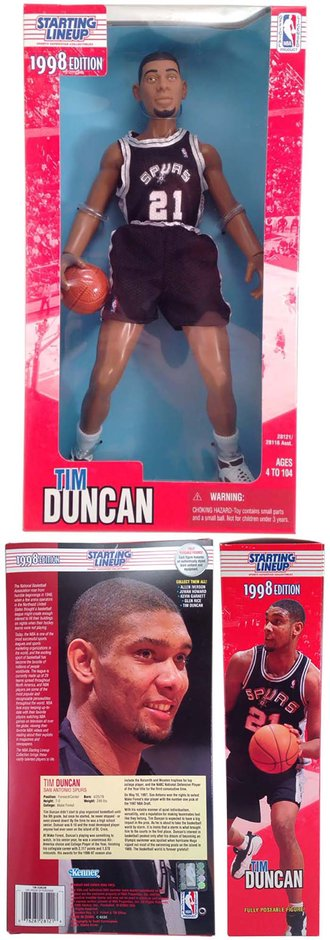 "Tim Duncan 1998 Starting Lineup 12"" Figure"