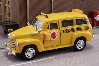 1:43 1950 Chevy School Bus (Yellow)