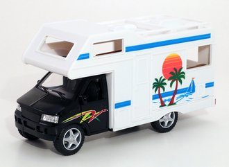 1:43 Camper RV Van (Black/White)