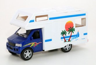 1:43 Camper RV Van (Blue/White)