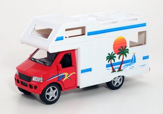 1:43 Camper RV Van (Red/White)