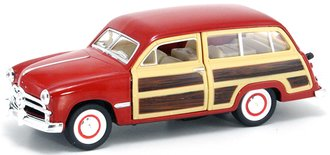 1:43 1949 Ford Woody Wagon (Red)