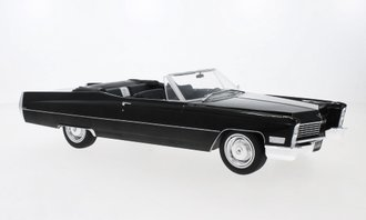 1:18 1968 Cadillac DeVille Open Convertible (Black)