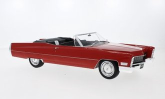 1:18 1968 Cadillac DeVille Open Convertible (Red)