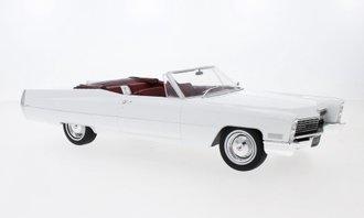 1:18 1968 Cadillac DeVille Open Convertible (White)