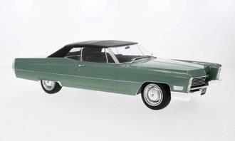 1:18 1968 Cadillac DeVille Closed Convertible (Green/Black)