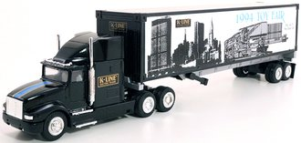 """Heavy Hauler w/40' Container on Chassis """"1994 Toy Fair"""" (Black)"""