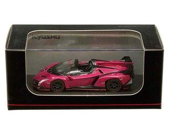1:64 Lamborghini Veneno Roadster (Magenta w/Red Line)