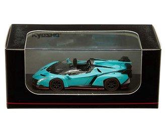 1:64 Lamborghini Veneno Roadster (Blue w/Red Line)