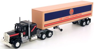 "Kenworth w/Trailer ""Lionel Corporation"" (Black/Tan) (Plastic Trailer)"