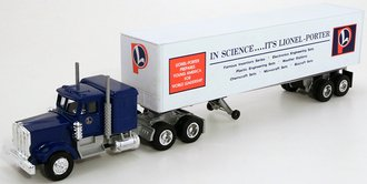 "Kenworth w/Trailer ""Lionel Porter"" (Blue/White) (Plastic Trailer)"