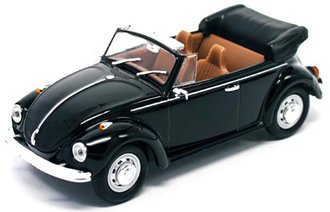1:43 1972 VW Beetle Open Roof (Black)