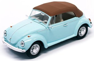 1:43 1972 VW Beetle Closed Roof (Light Blue)