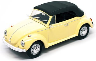 1:43 1972 VW Beetle Closed Roof (Yellow)