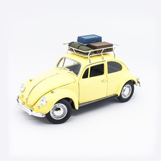 1:18 1967 VW Beetle (Yellow) w/Luggage