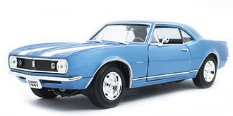 1:18 1967 Chevy Camaro Z28 (Blue w/White Racing Stripes)