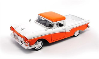 1:18 1957 Ford Ranchero (Orange/White)