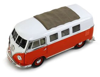 1:18 1962 Volkswagen Microbus (Orange/White) w/Sliding Sunroof