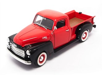 1:18 1950 GMC Pickup (Red/Black)