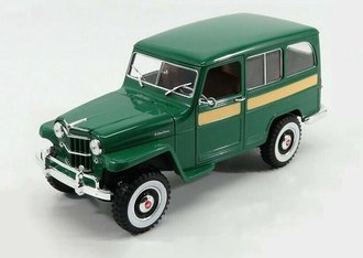 1:18 Willys Jeep Station Wagon (Green)
