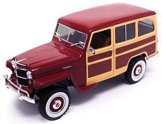 1:18 Willys Jeep Station Wagon (Dark Red)