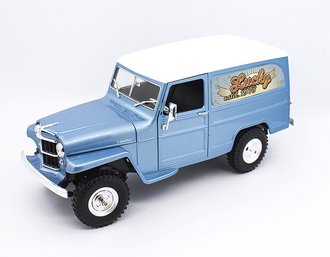 1:18 Willys Jeep Station Wagon (Silver Blue)