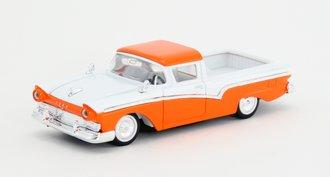1:43 1957 Ford Ranchero Pickup (Orange/White)