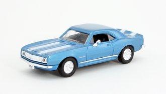 1:43 1967 Chevy Camaro Z-28 (Blue w/Racing Stripes)