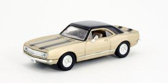 1:43 1967 Chevy Camaro Z-28 (Gold w/Black Racing Stripes)