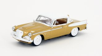 1:43 1958 Studebaker Golden Hawk (Gold w/White Top)