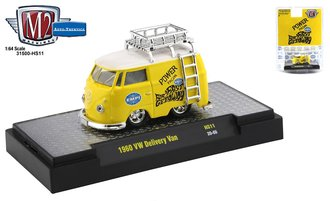 "1:64 1960 VW Delivery Van ""Power From EMPI"" (Bright Yellow/White)"