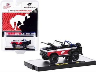 1:64 1966 Ford Bronco (Semi-Gloss Black/Red/White)
