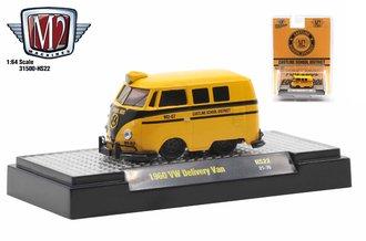 """1:64 1960 Volkswagen Shorty Window Bus """"School Bus"""" (Yellow)"""