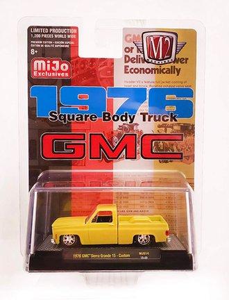 1:64 1976 GMC Sierre Grande 15 Square Body Custom Pickup Truck (Yellow)