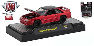 1:64 1987 Ford Mustang GT (Red/Black)
