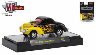 1:64 Special Release - 1941 Willys Coupe Gasser (Black w/Bright Yellow Flames)
