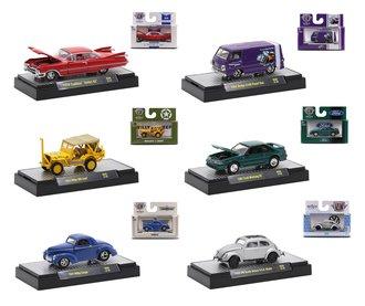 1:64 Auto-Thentics/Auto-Trucks/Detroit Muscle/M2 Jeep/VW Release 66 (Set of 6)