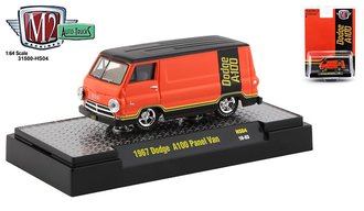 1:64 1967 Dodge A100 Panel Van (Go Mango)