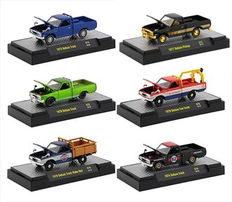 1:64 Auto-Trucks Special Release S75 - 1977 Datsun Pickup Custom Pickup (Set of 6)