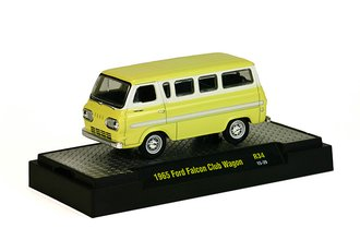 1:64 1965 Ford Falcon Club Wagon (Phoenician Yellow/Wimbledon White)