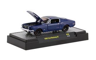 1968 Ford Mustang GT (Kona Blue Metallic w/Semi-Gloss Black Stripe)