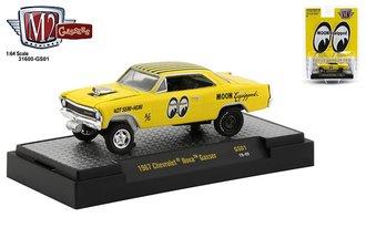 "1:64 Special Release - 1967 Chevrolet Nova Gasser ""Mooneyes"" (Yellow)"