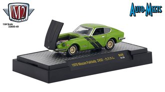 1:64 1971 Nissan Fairlady Z432 (Green Metallic w/Semi-Gloss Black Hood & Stripes)