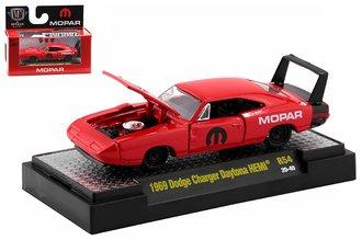"1:64 1969 Dodge Charger Daytona HEMI ""MOPAR"" (Red)"