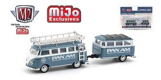 "1:64 Auto Trailer Volkswagen VW Bus Deluxe w/Trailer ""Pan Am Airlines"""