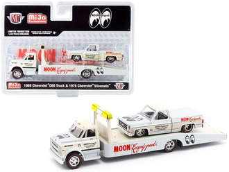 """1:64 Auto-Haulers - 1968 Chevy C60 Flatbed & 1978 Chevy Silverado """"Mooneyes Equipped"""""""