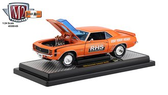 "1:24 1969 Chevrolet Camaro SS/RS ""RHS"" (Orange Metallic w/Black Stripes)"