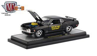 "1:24 1970 Ford Mustang Mach 1 428 ""Weiand"" (Gloss Black w/Gold Stripes)"