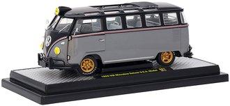 1:24 1959 VW Microbus Deluxe U.S.A. Model (Gloss Black Top/Gray Metallic Bottom)