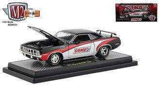 "1:24 1971 Plymouth HEMI Cuda ""Comp Cams"" (Gloss Black/Red/White)"